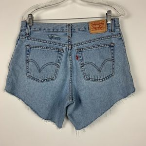 Levis Jeans Cutoff Shorts High Rise zipper fly